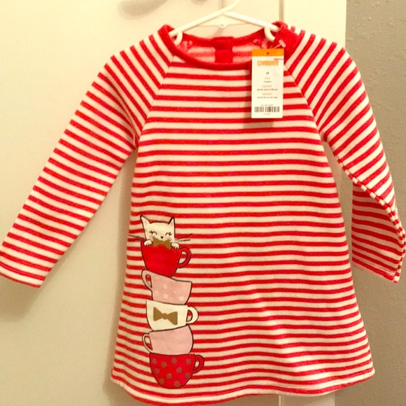 NWT Gymboree KITTY IN PINK Sz 2T 4T 5T Kitty Striped Sweater Dress NEW